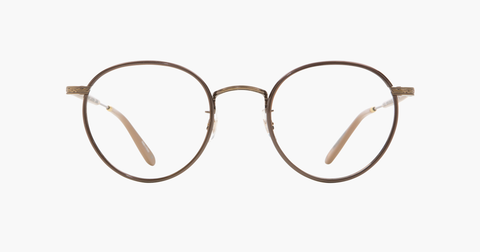 Garrett Leight - Wilson Brown Pearl Brushed Gold Powder Mauve Eyeglasses / Demo Lenses