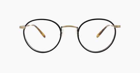 Garrett Leight - Wilson 46mm Matte Black Matte Spotted Tortoise Eyeglasses / Demo Lenses
