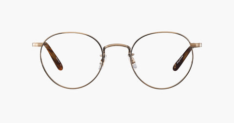 Garrett Leight - Wilson M 49mm Antique Gold Pinewood Eyeglasses / Demo Lenses