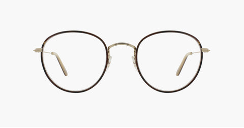 Garrett Leight - Paloma Red Tortoise Gold Eyeglasses / Demo Lenses