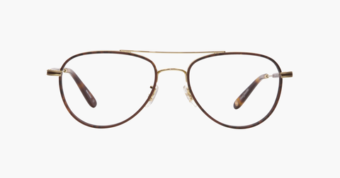 Garrett Leight - Linnie Red Tortoise Gold Eyeglasses / Demo Lenses