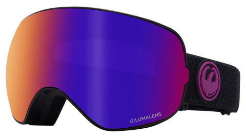 Dragon - X2s LL Split Snow Goggles / Purple Ion + Amber Lenses
