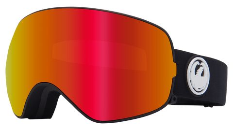 Dragon - X2s LL Black Snow Goggles / Red Ion + Rose Lenses