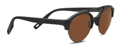 Serengeti - Savio Matte Black Sunglasses / Mineral Polarized Drivers Brown Lenses