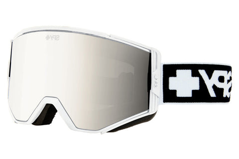 Spy - Ace Matte White Goggles, Bronze W/ Silver Mirror + Persimmon Lenses