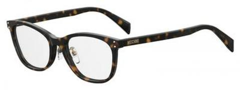 Moschino - Mos 540 F Dark Havana Eyeglasses / Demo Lenses