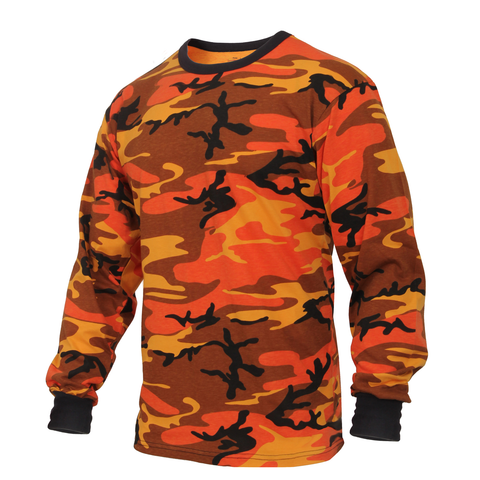 Rothco - Colored Savage Orange Camo Long Sleeve Tee