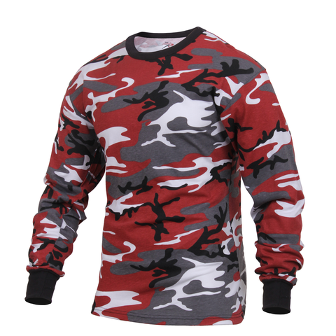 Rothco - Colored Red Camo Long Sleeve Tee