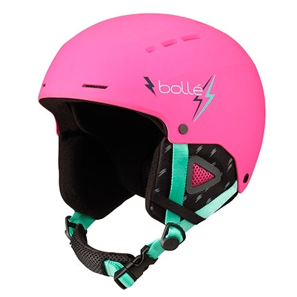 Bolle - Quiz 49cm-52cm Matte Pink Flash Snow Helmet