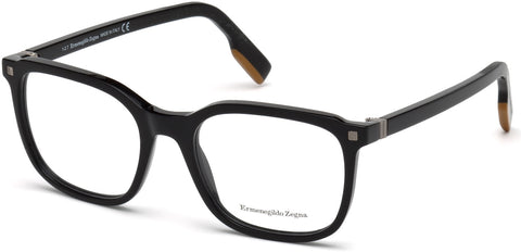 Ermenegildo Zegna - EZ5129 Shiny Black Eyeglasses / Demo Lenses
