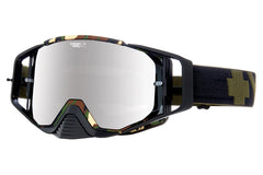 Spy - Ace MX Fatigue Moto Goggles, Happy Bronze W/ Silver Mirror +Clear Anti Fog W/ Posts Lenses