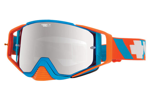 Spy - Ace MX Happy DNA Moto Goggles , Happy Bronze W/ Silver Mirror +Clear Anti Fog W/ Posts Lenses