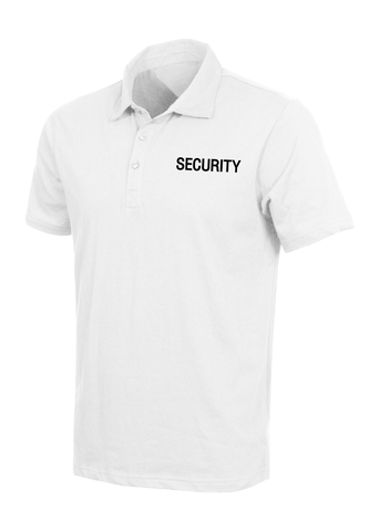 Rothco - Moisture Wicking Security White Black Polo Shirt