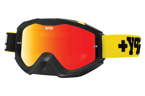 Spy - Klutch Jersey Yellow Moto Goggles, Smoke W/ Red Spectra +Clear Anti Fog W/ Posts Lenses