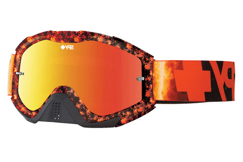 Spy - Klutch Flare Moto Goggles, Smoke W/ Red Spectra +Clear Anti Fog W/ Posts Lenses