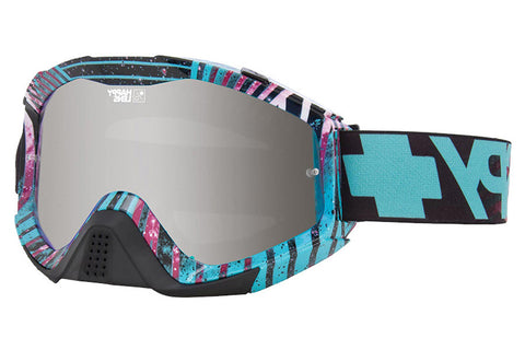 Spy - Klutch Infinite Teal Moto Goggles, Happy Bronze W/ Silver Mirror + Clear AFP Lenses