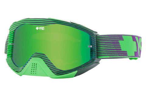 Spy - Klutch Blocked Green Moto Goggles, Smoke W/ Green Spectra +Clear Anti Fog W/ Posts Lenses