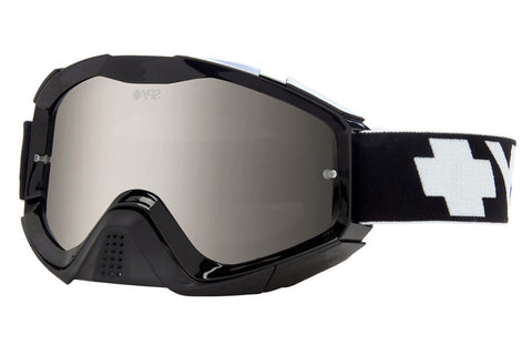 Spy - Klutch Black Moto Goggles, Smoke W/ Silver Mirror +Clear Anti Fog W/ Posts Lenses