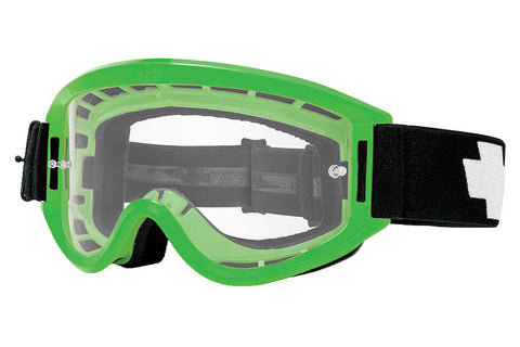 Spy - Breakaway Green Moto Goggles, Clear W/ Post Lenses