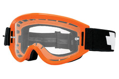 Spy - Breakaway Orange Moto Goggles, Clear W/ Post Lenses