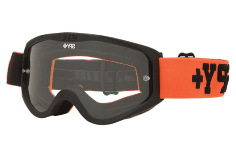 Spy - Cadet MX Jersey Orange Moto Goggles, Clear W/ Post Lenses