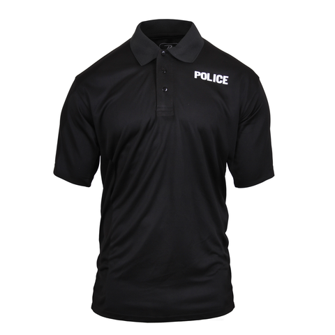 Rothco - Moisture Wicking Police Black Polo Shirt