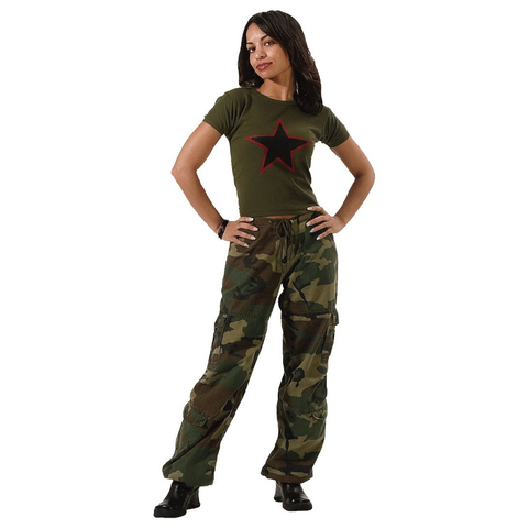 Rothco - Women's Vintage Paratrooper Woodland Camo Fatigue Pants