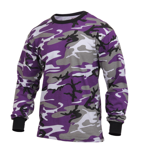 Rothco - Colored Ultra Violet Camo Long Sleeve Tee