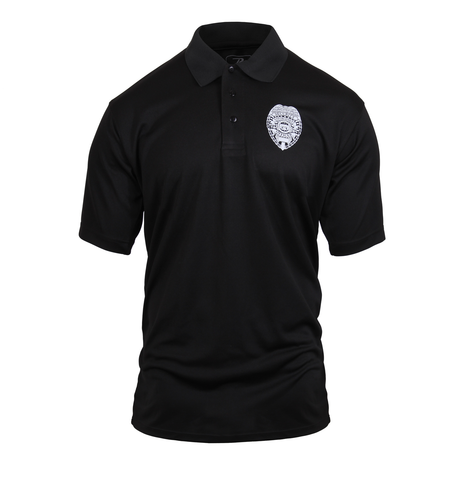 Rothco - Moisture Wicking Security & Badge Black Polo Shirt