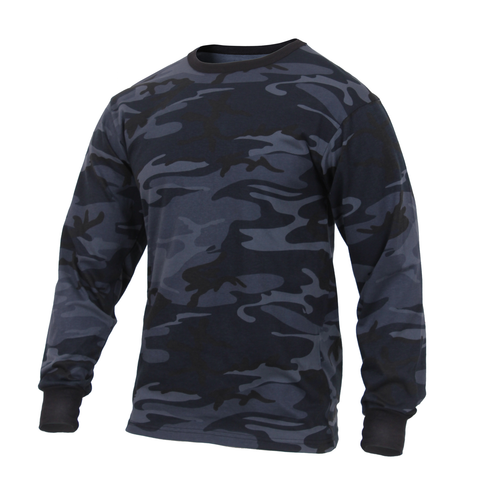 Rothco - Colored Midnight Blue Camo Long Sleeve Tee
