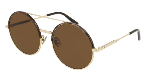 Bottega Venetta - BV0171S Gold Sunglasses / Brown Lenses