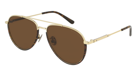 Bottega Venetta - BV0172S Gold Sunglasses / Brown Lenses