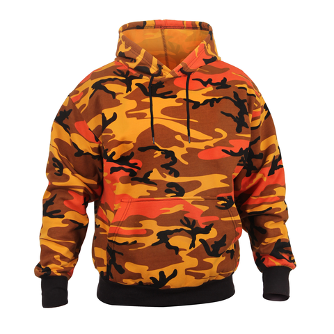 Rothco - Hooded Pullover Savage Orange Camo Sweatshirt