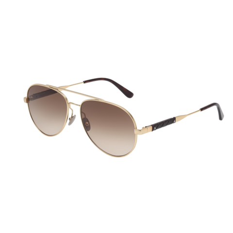 Bottega Venetta - BV0042S Gold Sunglasses / Brown Lenses