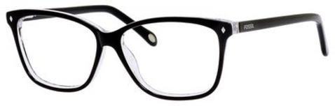 Fossil - Fos 6011 Black Gray Graphic Eyeglasses / Demo Lenses