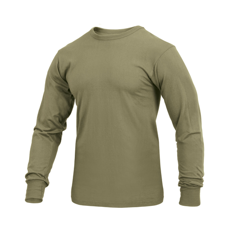 Rothco - Solid AR 670-1 Coyote Brown Long Sleeve Tee