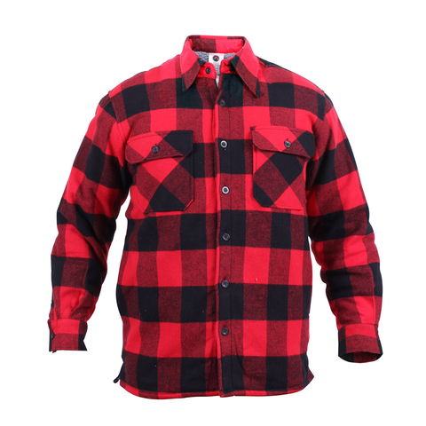 Rothco - Extra Heavyweight Buffalo Plaid Sherpa Lined Red Flannel Shirt