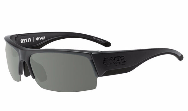 Spy - Flyer Matte Black Sunglasses, Happy Gray Green + Happy Rose + Clear Lenses