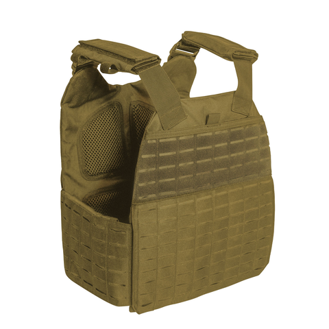 Rothco - Laser Cut MOLLE Plate Coyote Brown Carrier Vest