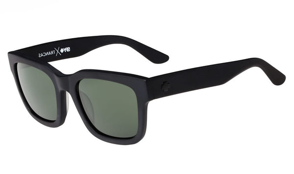 Spy - Trancas Matte Black Sunglasses, Happy Grey Green Lenses