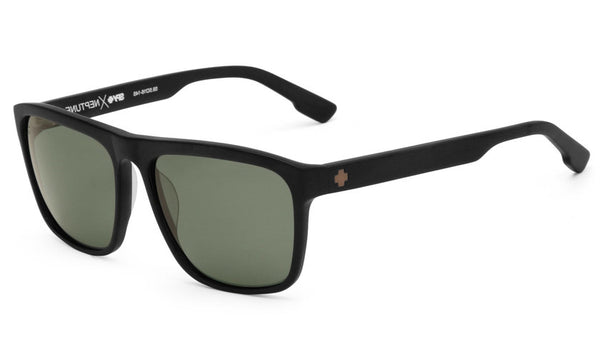 Spy - Neptune Matte Black Sunglasses, Happy Grey Green Polar Lenses