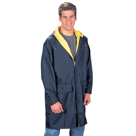 Rothco - 3/4 Length Rain Parka Navy Blue Yellow Rain Parka