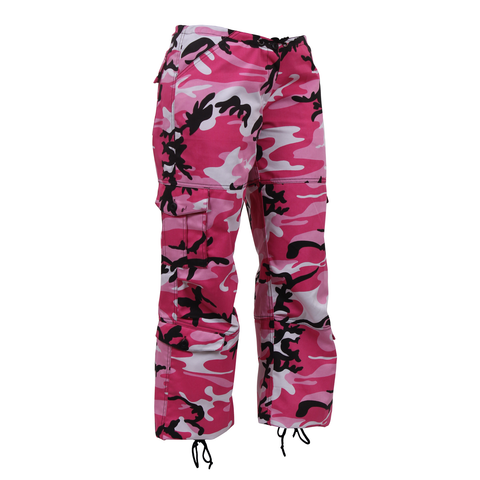 Rothco - Women's Colored Paratrooper Pink Camo Fatigue Pants