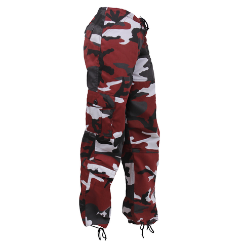 Rothco - Women's Colored Paratrooper Red Camo Fatigue Pants