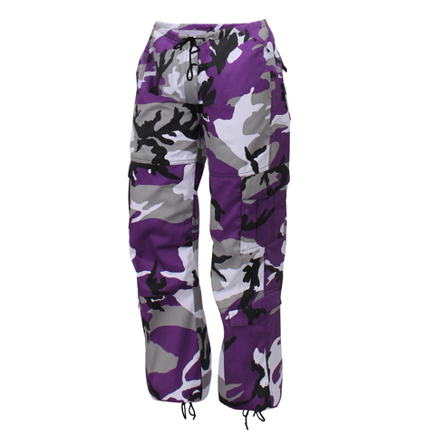 Rothco - Women's Colored Paratrooper Ultra Violet Camo Fatigue Pants