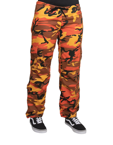 Rothco - Women's Colored Paratrooper Savage Orange Camo Fatigue Pants