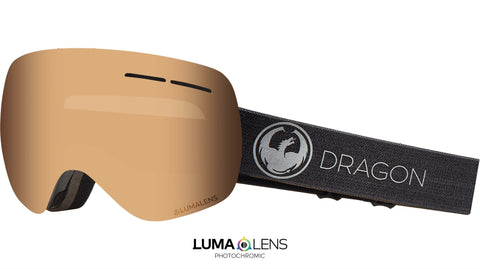 Dragon - X1S Echo Snow Goggles / Photochromic Amber Lenses