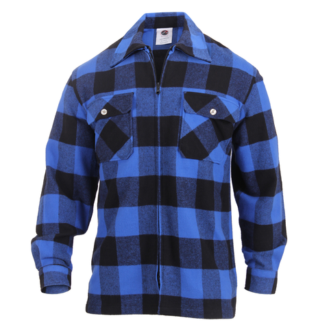 Rothco - Concealed Carry Blue Flannel Shirt