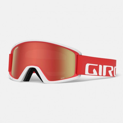 Giro - Semi Apex Red + White Snow Goggles / Amber Scarlet + Yellow Lenses