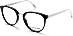Cover Girl - CG0471 Black + White Eyeglasses / Demo Lenses